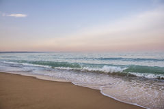 Golden Sands beach, Bulgaria. Twilight at the Black Sea on the Golden Sands beach, Bulgaria Stock Photography
