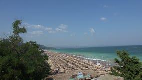 Golden Sands beach  in Bulgaria. Zlatni Piasci. 4K. Golden Sands beach (Zlatni Piasci) in Bulgaria. Shot in 4K (ultra-high definition (UHD stock video