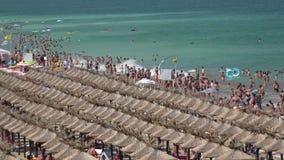 Golden Sands beach  in Bulgaria. Zlatni Piasci. 4K. Golden Sands beach (Zlatni Piasci) in Bulgaria. Shot in 4K (ultra-high definition (UHD)), so you can easily stock video