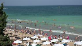 Golden Sands beach  in Bulgaria. Zlatni Piasci. 4K. Golden Sands beach (Zlatni Piasci) in Bulgaria. Shot in 4K (ultra-high definition (UHD)), so you can easily stock footage