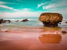 Golden Sands Beach. Coast Algave, Portugal Stock Photography