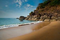 Golden sandy beach Stock Photo