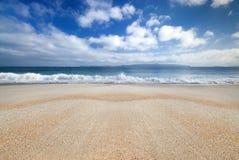 Golden sandy beach, Coromandel,New Zealand Stock Photo