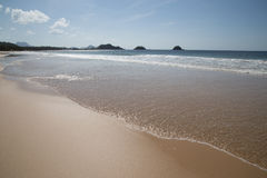 Golden sandy beach at El Nido Royalty Free Stock Photo