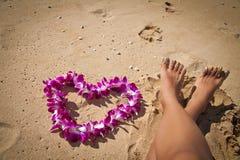 Golden sandy tropical beach Stock Photos