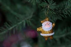 Golden Santa stock image