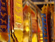 Golden Sash. In a temple Stock Image