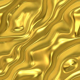 Golden satin. Elegant golden satin or silk background, very smooth and will tile seamlessly as a pattern stock illustration