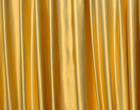 Golden satin fabric Royalty Free Stock Photos