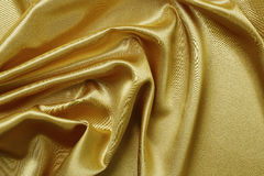 Golden satin Royalty Free Stock Image