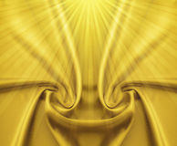 Golden satin and rays Royalty Free Stock Photo