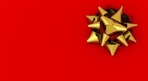 Golden satin ribbon Royalty Free Stock Photo
