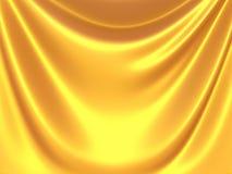 Golden satin silk waves yellow background Royalty Free Stock Photos