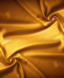 Golden satin texture, brocade Royalty Free Stock Photography