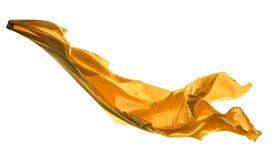 Golden satins shape on white background Stock Photo