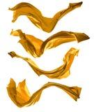 Golden satins shape on white background Stock Image