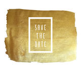Golden save the date Stock Photo
