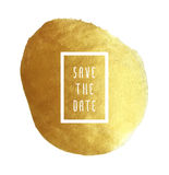 Golden save the date Royalty Free Stock Photos