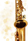 Golden Sax. Music. Holiday Stock Photo