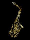 A golden saxophone Stock Image