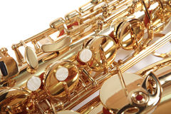 Golden saxophone. Royalty Free Stock Images