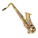 Golden saxophone Royalty Free Stock Photography