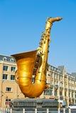 The golden saxophone Stock Photo