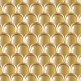 Golden scale pattern Stock Photography