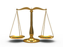 Golden scales justice Stock Photos