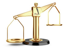 Golden scales of justice or a medical scales Royalty Free Stock Photography