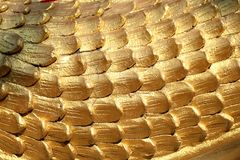 Golden scales texture Royalty Free Stock Images