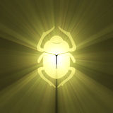 Golden Egyptian scarab light flare Royalty Free Stock Image