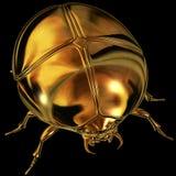Golden scarab. Graphic illustration on black background Stock Images