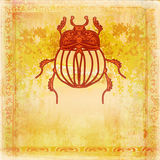 Golden Scarab background Royalty Free Stock Images
