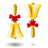 Golden school handbell Royalty Free Stock Photos