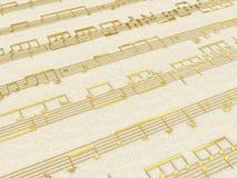 Golden score background Stock Images