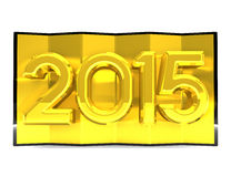 2015 Golden Screen. 3D render illustration Stock Illustration