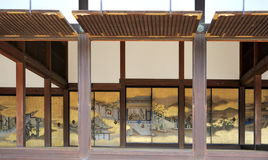 Golden screens of Otsunegoten. The golden screens of Otsunegoten in Kyoto Imperial Palace, Japan. The Otsunegoten was used as the Emperor's residence Royalty Free Stock Photography