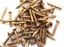 Golden screws in a hip Royalty Free Stock Images