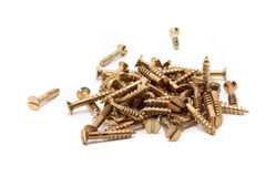 Golden screws in a hip Stock Images