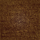 Golden scribble on brown background. Stock Photos