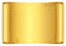 Golden scroll. Stock Photos