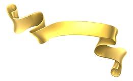 Golden Scroll Banner Stock Photography