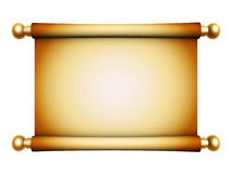 Golden scroll parchment royalty free illustration