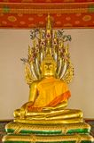 Golden sculpture. Thai buddhism in church wat pho , bangkok thailand Royalty Free Stock Images