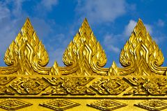 Golden sculpture Royalty Free Stock Image