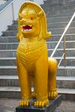 The Golden sculpture of an animal at a Buddhist temple the city of Nakhon Ratchasima. Thailand. Stock Photography