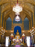 Golden sculpture of the Buddha Angkeeros , Bangkok Stock Photography