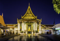 Golden sculpture of the Buddha  in Buddhist temple Royalty Free Stock Images