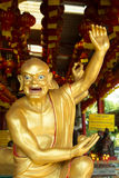Golden Sculpture Chinese Gods in Chinese Temple at Phitsanulok, Stock Photos